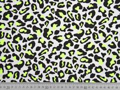 Jersey Leopardenmuster, neongelb schwarz weiß