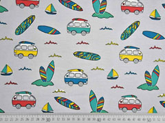 Jersey Busse Surfbretter, bunt hellgrau