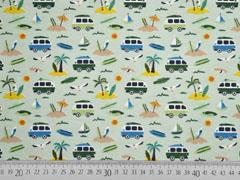 Jersey kleine Busse Palmen, hellgrün