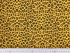 Musselin Leopardenmuster, ocker