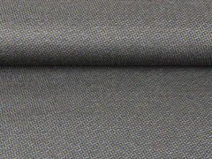 Punto di Roma Heavy Stretchjersey Rauten, ocker grau schwarz