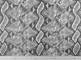 Lederimitat Schlangemuster mit Struktur, grau ecrue