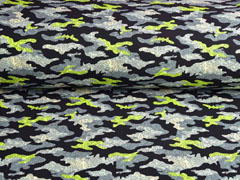 Softshell Stoff Jackenstoff Camouflagemuster, gelb grau