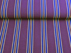 Blusenstoff Crepe College Streifen, ocker dunkelblau bordeaux