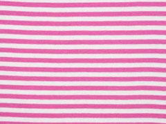 Bündchenstoff Streifen 5 mm garngefärbt, pink weiß