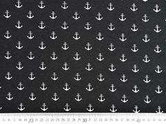 RESTSTÜCK 88 cm Jersey Anker, weiß schwarz