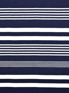 Jersey Streifen garngefärbt, weiß dunkelblau