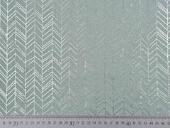 RESTSTÜCK 64 cm Jersey Pfeilspitzen Fischgrät, silbermetallic mint