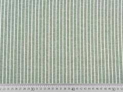RESTSTÜCK 133 cm Viskose Leinen Stoff Streifen, weiß khaki meliert