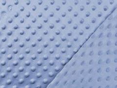 Fleece Minky Punkte, helles jeansblau
