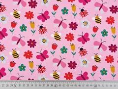 Jersey Bienen Marienkäfer Schmetterlinge, rosa