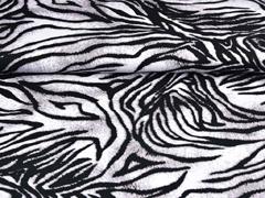 Viskosejersey Animalprint, grau schwarz