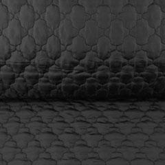 Steppstoff Jackenstoff wattiert uni, schwarz