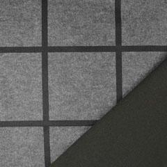Schal Stoff Karomuster Woll-ähnlich Wool Touch, grau schwarz