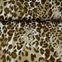 Viskose Jersey Stoff Leopardmuster, khaki