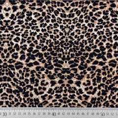 Viskose Stoff Leoparden Muster Animal Print, hellbraun schwarz