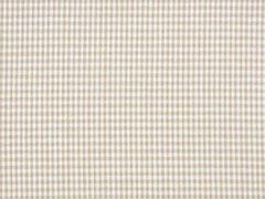 Baumwollstoff Vichy Karo, beige weiß