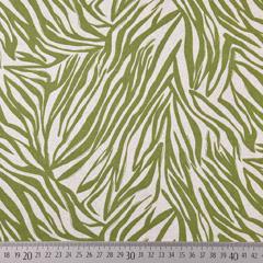 Viskose Leinen Webware Zebra Muster Animal Print, hellgrün natur