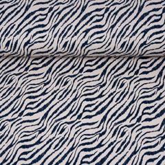 Jerseystoff Zebra Muster, schwarz beige