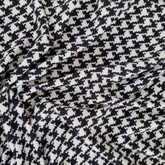 Viskose Jerseystoff Hahnentritt Pepita, schwarz weiß