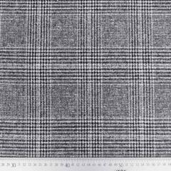 Webware kariert Glencheck Jackenstoff,  grau schwarz weiß