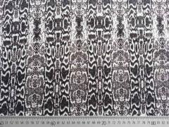 RESTSTÜCK 148 cm Stretchjeans Schlangen Muster- taupe /schwarz