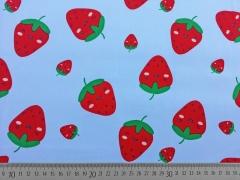 BW große Erdbeeren, hellblau