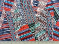 RESTSTÜCK 65 cm Viskose Ibiza Look, coralle petrol