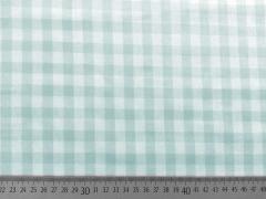 RESTSTÜCK 29 cm beschichtete BW Karo - mint weiss