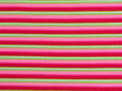 RESTSTÜCK 82 cm Jersey Streifen Multicolor, rosa pink hellgrün