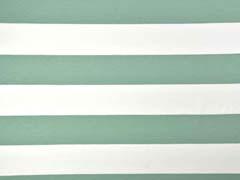 Jersey Blockstreifen 6 cm, weiß mint