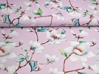 Canvas Blumen Magnolien Digitaldruck, hellrosa