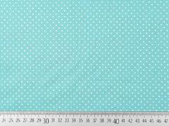 Baumwollstoff kleine Punkte Petite Dots, weiß mint