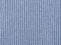 Rippenbündchen Hipster-Beanie Stoff, jeansblau meliert