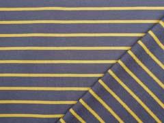 Sweat Stoff French Terry schmale Streifen, ocker taupe