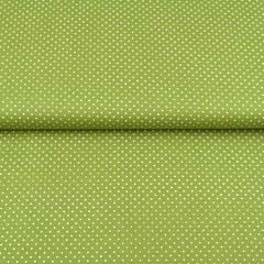 Baumwollstoff kleine Punkte Petite Dots, weiß gelbgrün