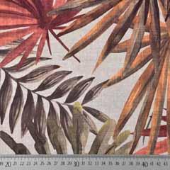 Canvas Stoff tropische Blätter Palmenblätter Digitaldruck, grün braun natur