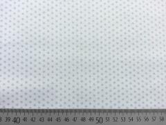 Baumwollstoff Sternchen- eisblau auf weiss