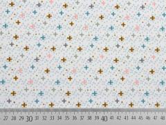 RESTSTÜCK 42 cm 3-schichtiger Softshell kleine Kreuze, weiß