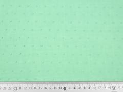 weicher Batist beflockt Punkte, mintgrün