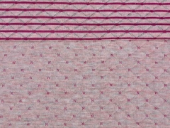 Gesteppter Jersey Doubleface, rosa