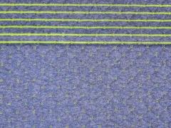Gesteppter Jersey Doubleface,  jeansblau hellgrün