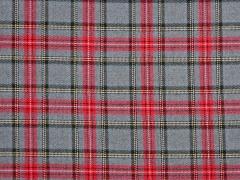 Schottenkaro Wooltouch, grau rot
