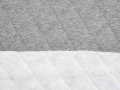 RESTSTÜCK 200 cm Steppjersey wattiert, grau melange