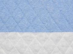 Steppjersey wattiert, helles jeansblau melange