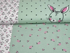 Jersey Bunny Love Panel 3 in 1, mint