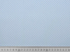 Baumwollstoff Petite Dots kleine Punkte, hellblau