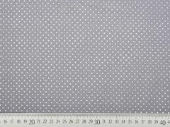 Baumwollstoff Petite Dots kleine Punkte, grau
