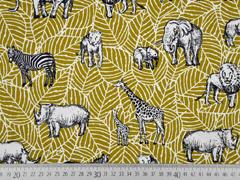 Canvas Tiere Afrika Safari, currygelb