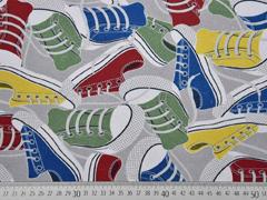 Canvas Digitaldruck Sneaker Turnschuhe, hellgrau